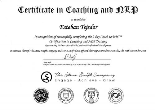 Certification in Coaching and NLP training