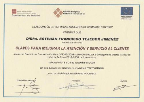 Keys to improve customer service-Esteban Tejedor